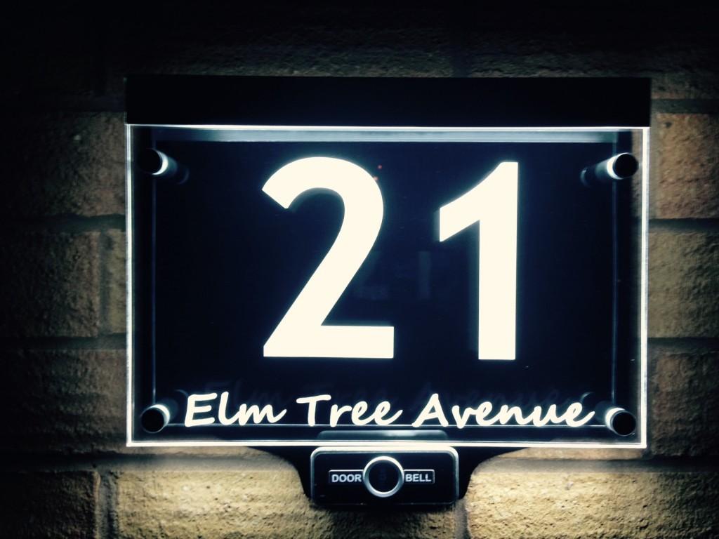 Illuminated modern house signs - LED House Number