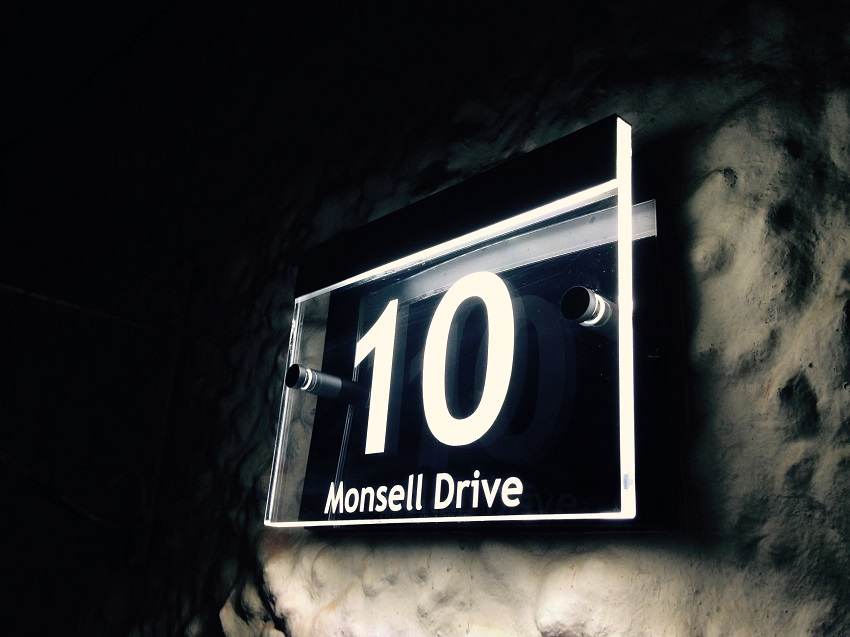 Illuminated modern house signs LED House Number